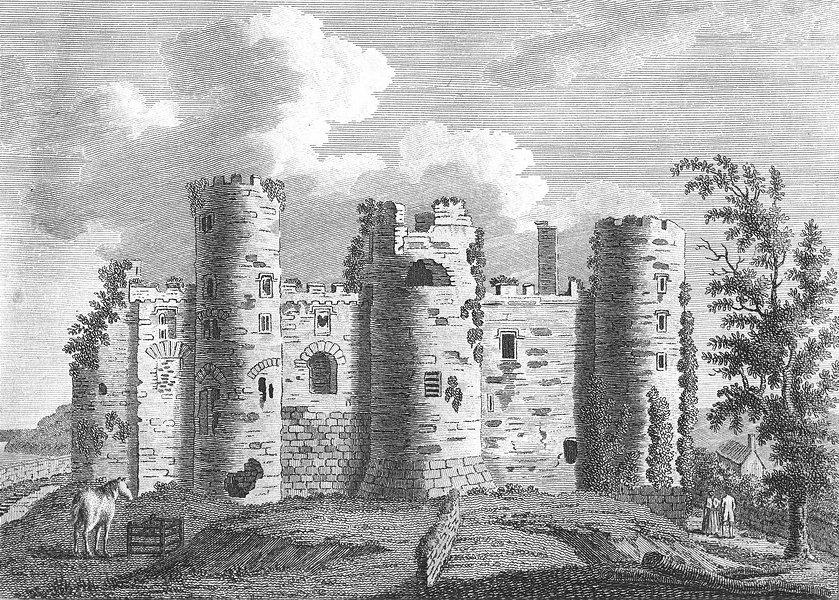 Associate Product WALES. Laugharne Castle, Carmarthenshire. Grose. 18C 1795 old antique print