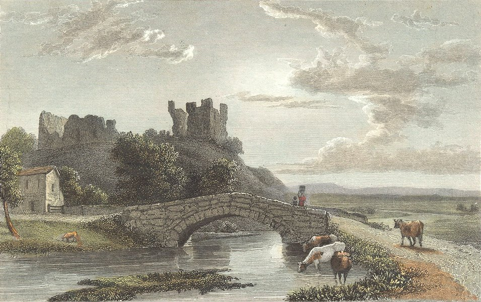 Associate Product WESTMORLAND. Brough Castle. Westall-Finden c1833 old antique print picture