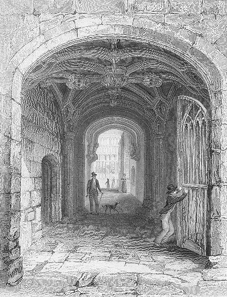 Associate Product COVENTRY. Entry gateway, St Mary Hall. Bartlett 1830 old antique print picture