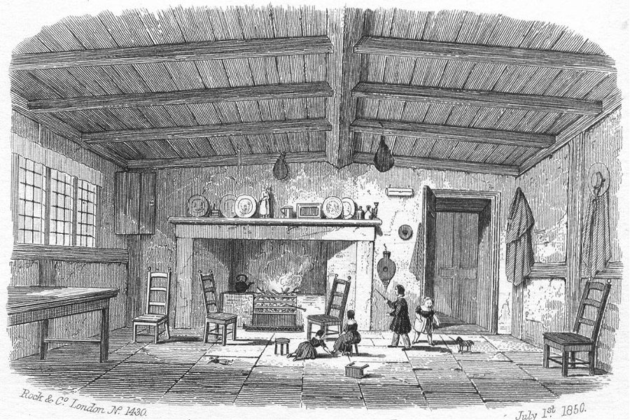 Associate Product STRATFORD ON AVON. Ann Hathaway's Cottage, Shottery c1855 old antique print