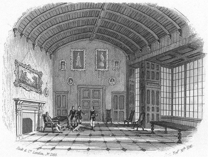 Associate Product CHARLECOTE. Hall House, Stratford on Avon. Stratford c1855 old antique print