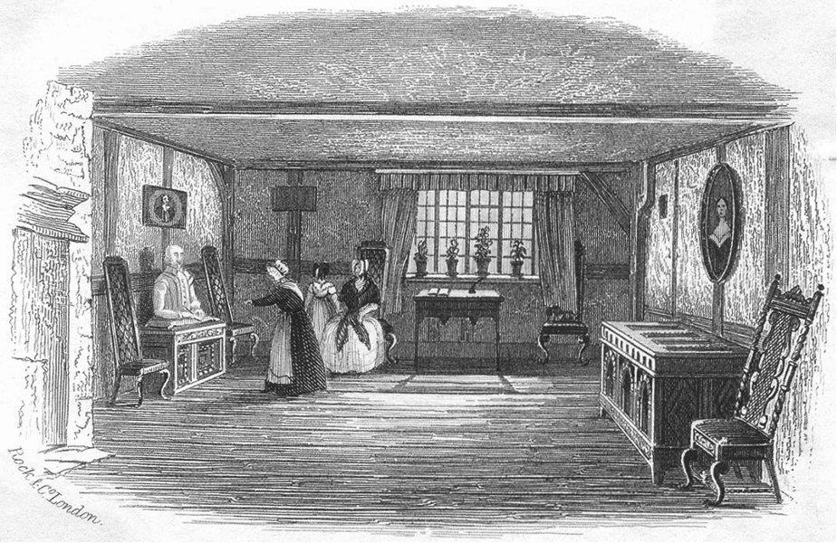 Associate Product STRATFORD ON AVON. Room Shakespeare born. Stratford c1855 old antique print