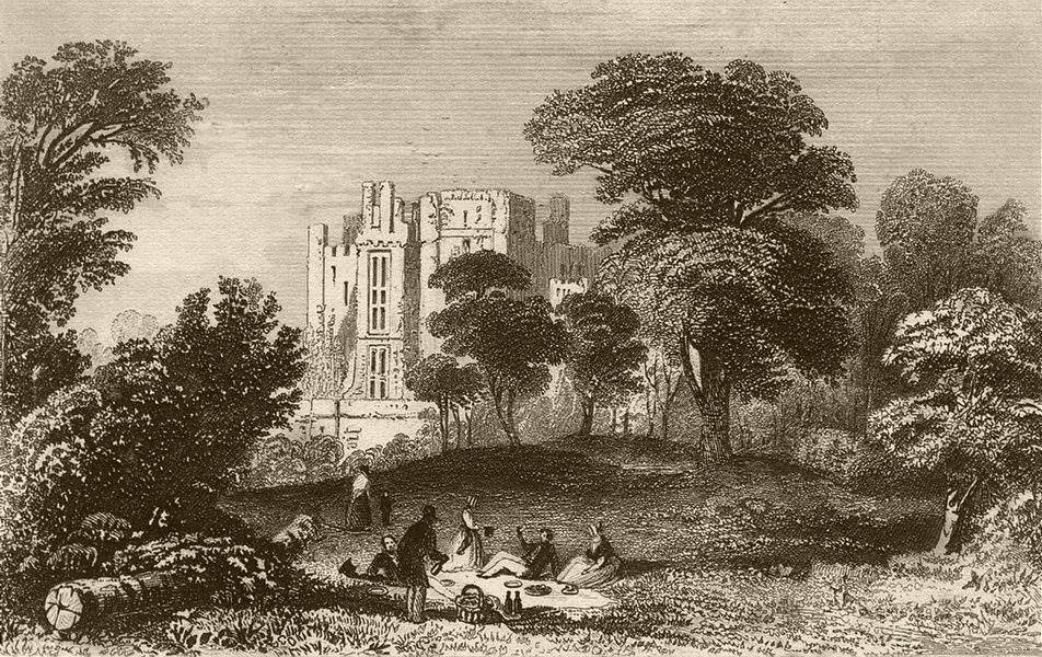 Associate Product KENILWORTH. Ruins of the Castle, Warwickshire. DUGDALE 1835 old antique print