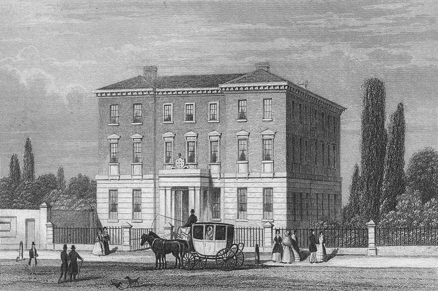 Associate Product BIRMINGHAM. The Queen's Hospital. DUGDALE 1835 old antique print picture