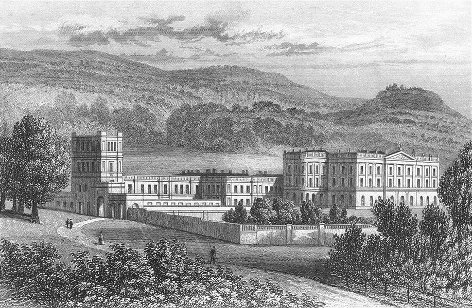 Associate Product CHATSWORTH. Attractive view. Derbyshire. Duke of Devonshire. DUGDALE c1840