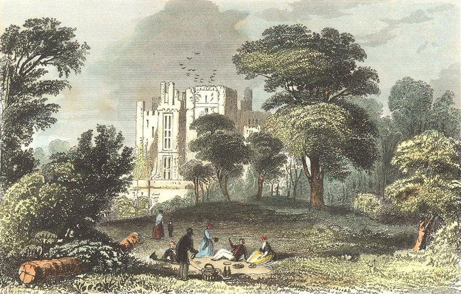 Associate Product KENILWORTH. Ruins, Castle, Warwickshire. DUGDALE 1835 old antique print