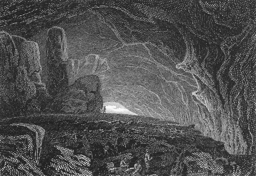 Associate Product DERBYS. Peak Hole, peak, Derbyshire. Matlock Tor 1808 old antique print