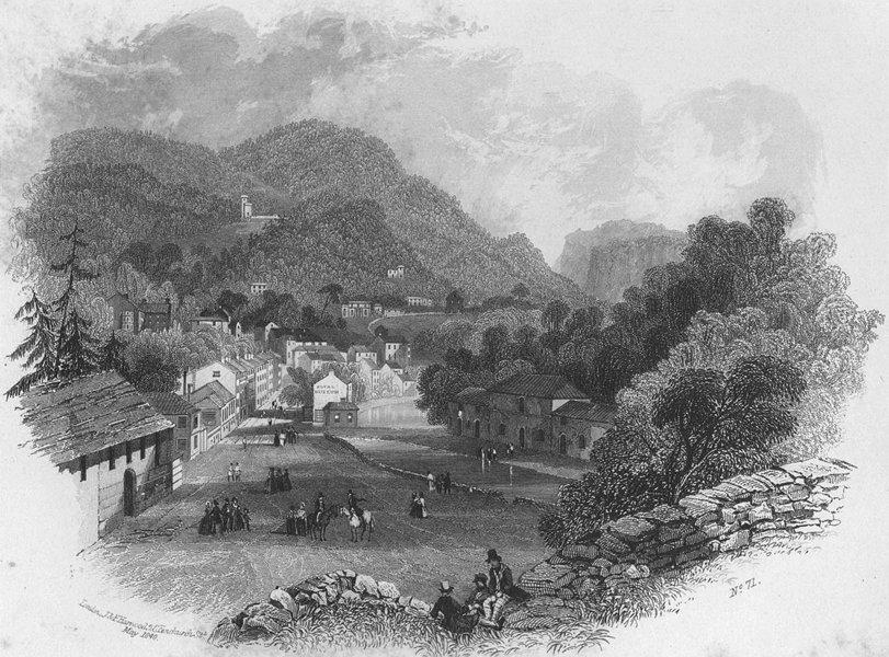 Associate Product DERBYS. Matlock. Harwood 1841 old antique vintage print picture