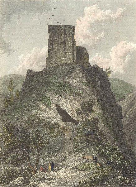 Associate Product DERBYS. Peveril Castle, Derbyshire. Westall-Finden c1833 old antique print