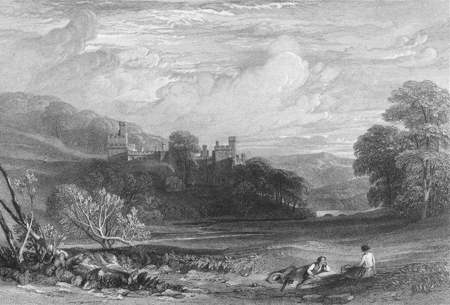Associate Product DERBYS. Haddon Hall, Derbyshire. Leitch 1850 old antique vintage print picture