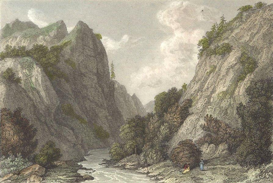 Associate Product DERBYS. Dove Dale, Derbyshire. Westall-Finden c1833 old antique print picture