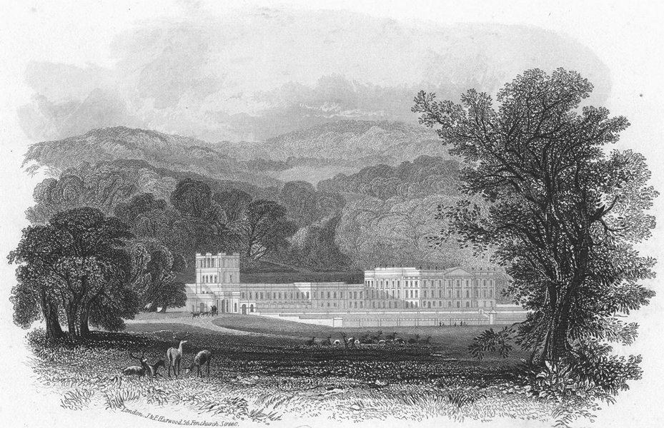 Associate Product DERBYS. Chatsworth. Harwood 1840 old antique vintage print picture
