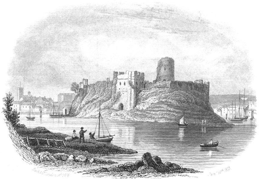 Associate Product WALES. Pembroke Castle. Pembrokeshire. Rock 1853 old antique print picture