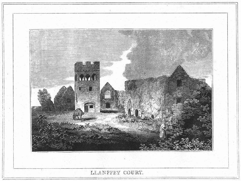 Associate Product WALES. Llanfey Ct. Pembrokeshire 1830 old antique vintage print picture
