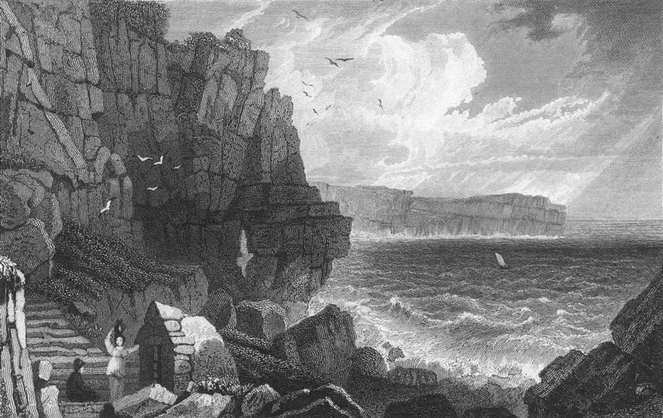 PEMBROKESHIRE. Sainted Well, St Gowan's. Pembroke.  c1831 old antique print