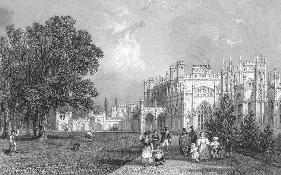CHESHIRE. Eaton Hall. Allom. Chester 1836 old antique vintage print picture