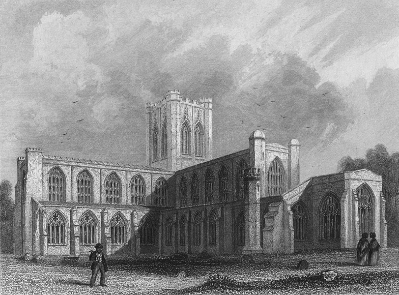 Associate Product CHESHIRE. Chester Cathedral, SE view 1860 old antique vintage print picture