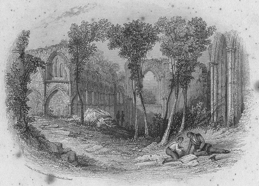 SOUTHAMPTON. Netley Abbey, view. Netley ABBEY. Harwood 1841 old antique print