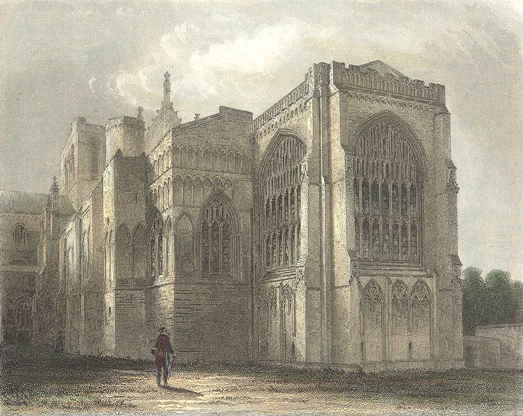 Associate Product HANTS. Winchester Cathedral SE view 1836 old antique vintage print picture
