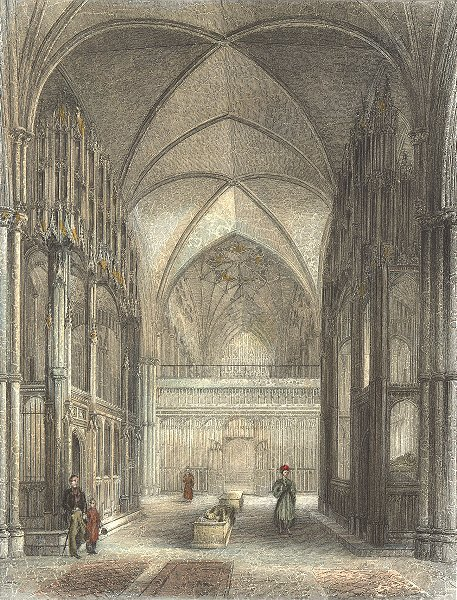 WINCHESTER. Cathedral Presbytery, Waynfleet Beauport 1836 old antique print