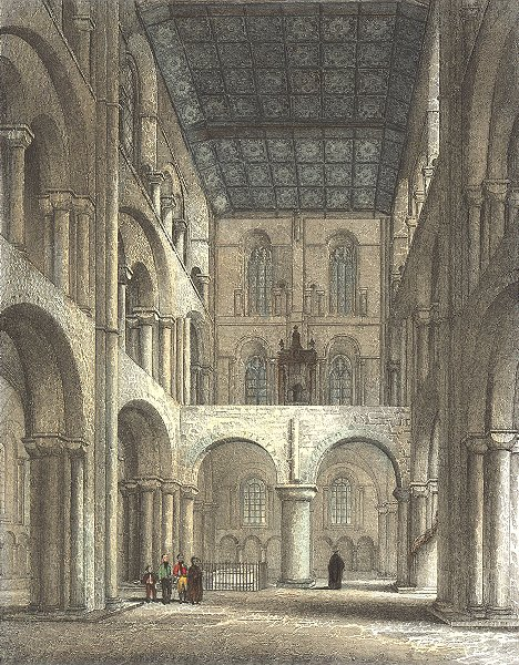 Associate Product HANTS. Winchester Cathedral North Transept 1836 old antique print picture