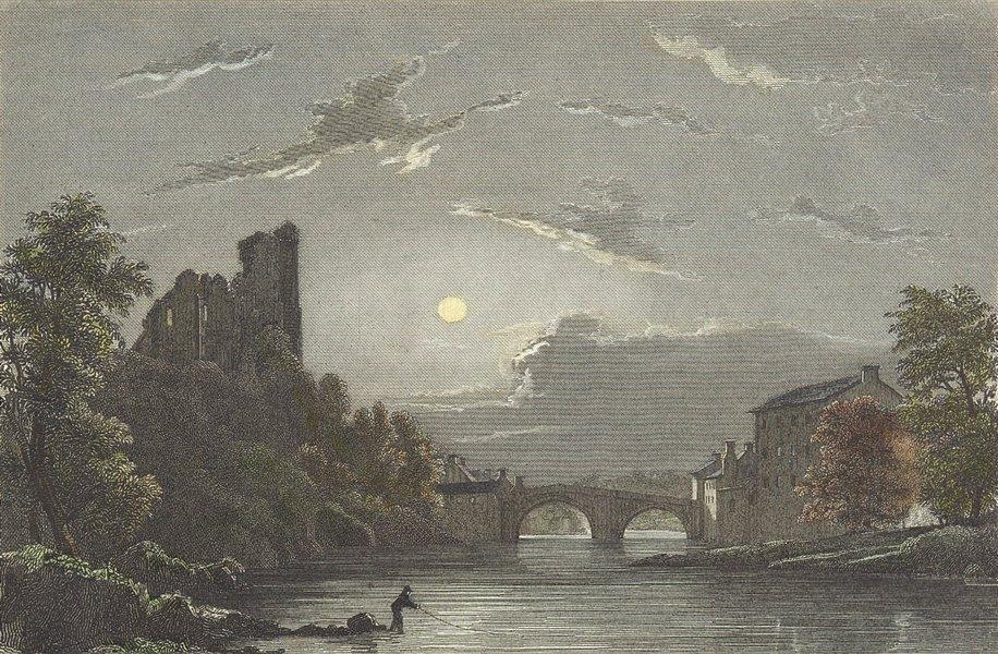 Associate Product DURHAM. Barnard Castle. Westall-Finden c1833 old antique vintage print picture