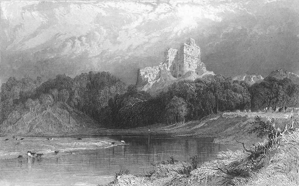 Associate Product NORHAM CASTLE. Tweed, North Durham. Allom. Ruins 1832 old antique print