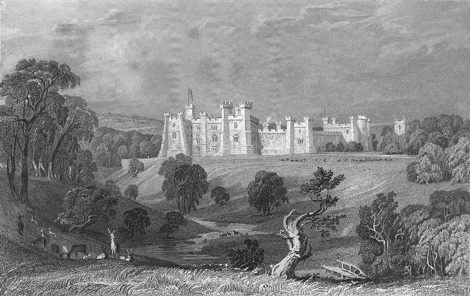 Associate Product BRANCEPETH CASTLE. William Russel. Deer Woodland 1832 old antique print