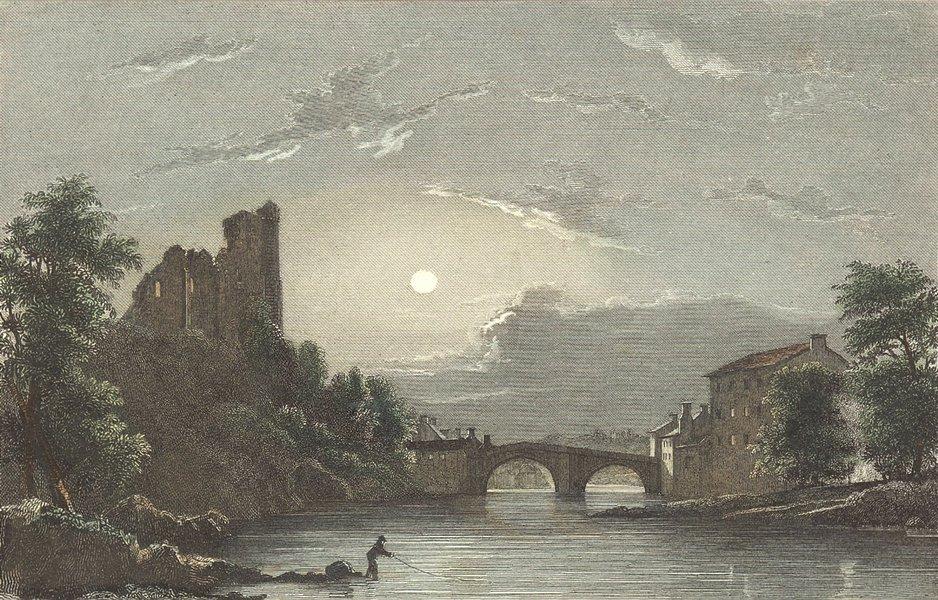 Associate Product DURHAM. Barnard Castle. Westall-Finden 1830 old antique vintage print picture