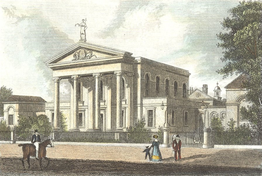 Associate Product YORKS. Ct House, Beverley, E. DUGDALE 1835 old antique vintage print picture