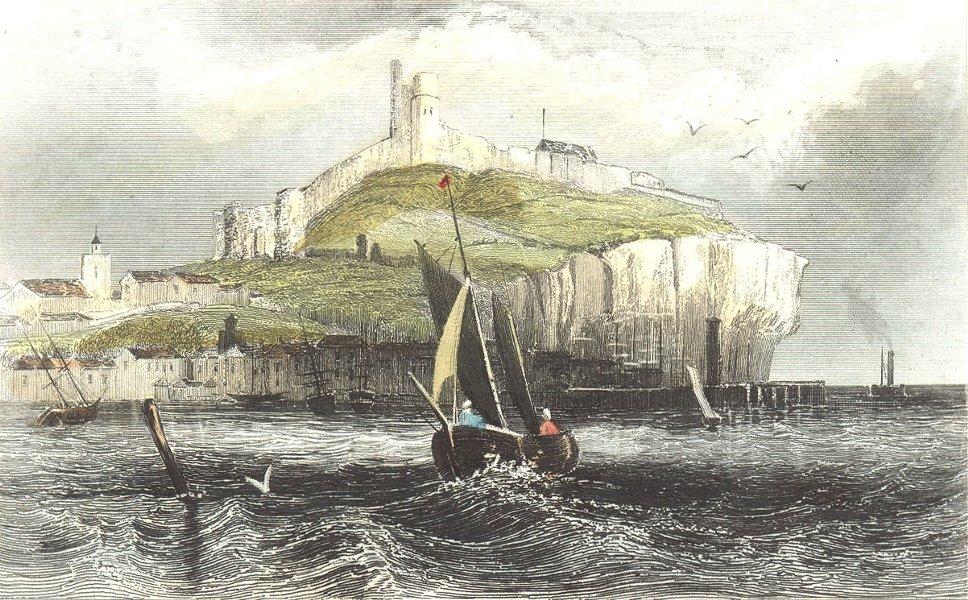Associate Product YORKS. Scarborough Castle. DUGDALE 1835 old antique vintage print picture