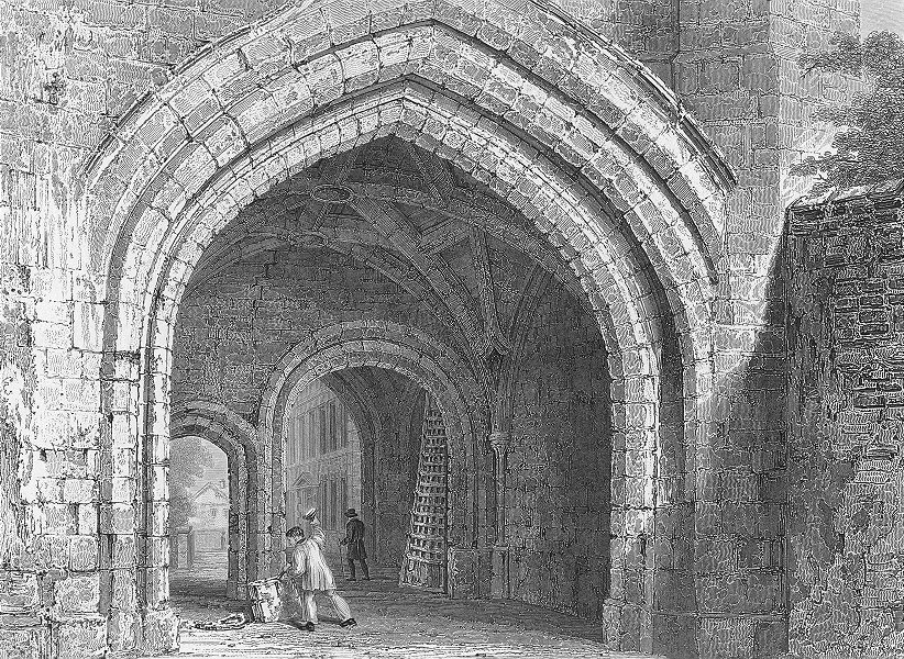 Associate Product WORCESTER. Gate-way, Edgar's Tower, looking west. Fine 1830 old antique print