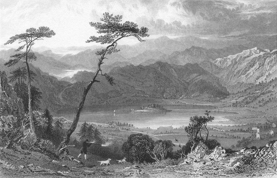 Associate Product GRASMERE. from butter crags, Westmorland. Allom 1832 old antique print picture