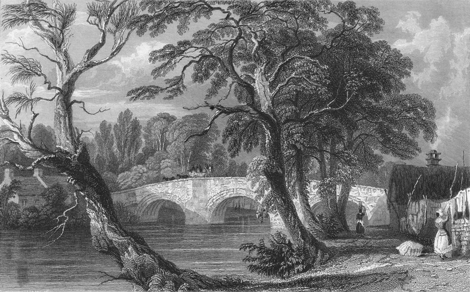 Associate Product WESTMORLAND. Eamont bridge, side. Allom 1832 old antique vintage print picture