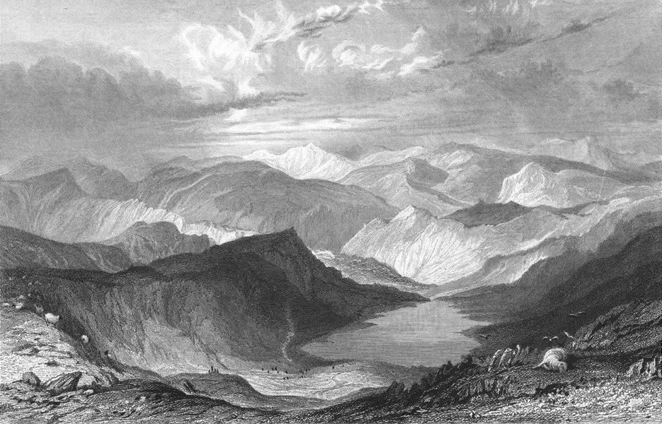 Associate Product WESTMORLAND. Hayswater, from High Street Mountain.  1832 old antique print