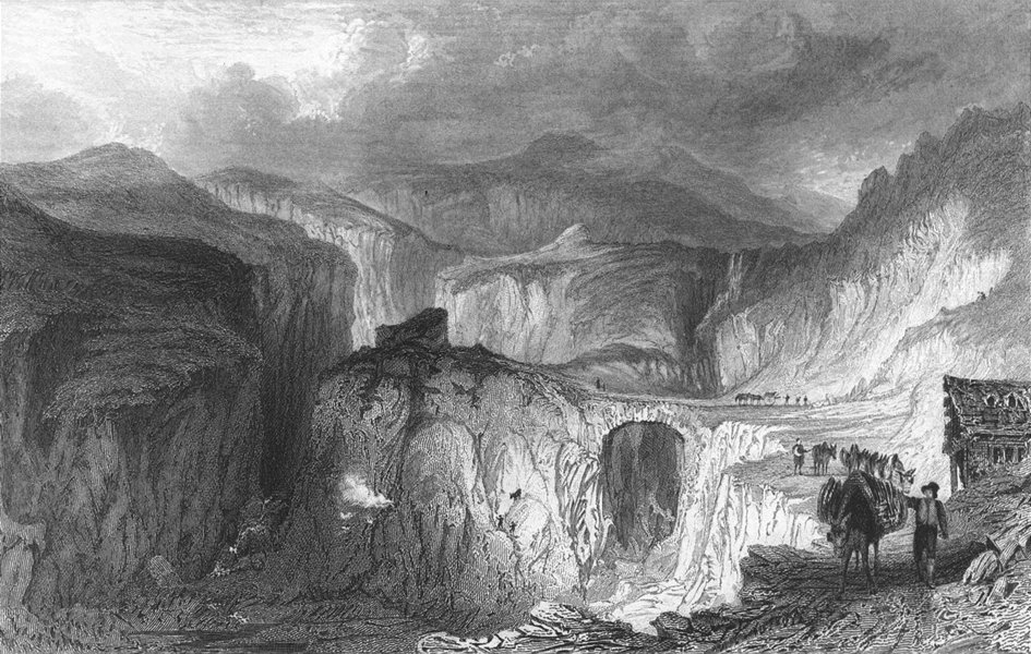 Associate Product WESTMORLAND. Long Sleddale slate quarry. Allom 1832 old antique print picture