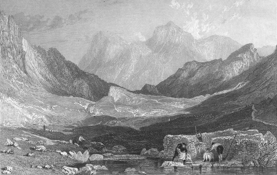 Associate Product LANGDALE. Clare Moss, from little head. Westmorland  1832 old antique print