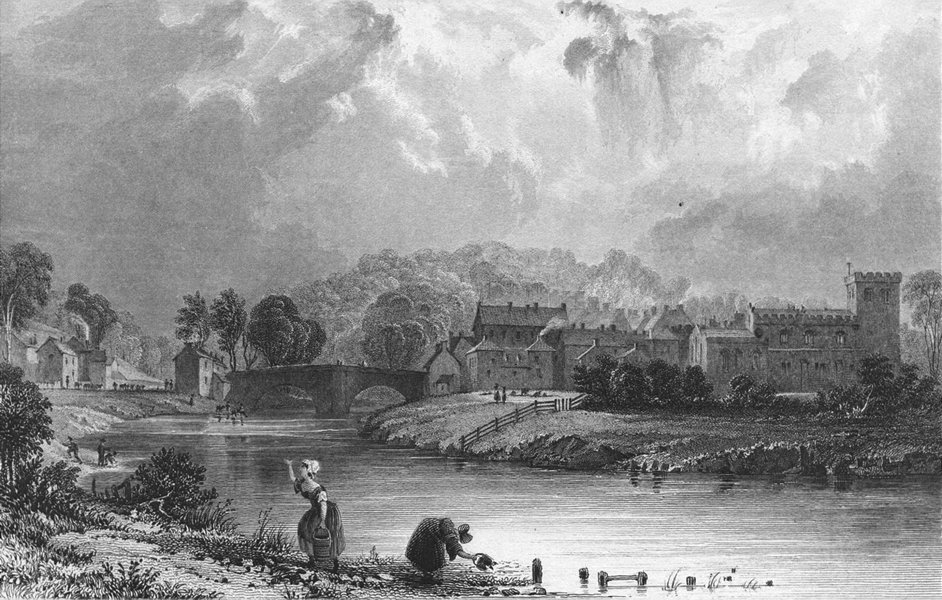 Associate Product CUMBS. Appleby in Westmorland. Allom 1832 old antique vintage print picture