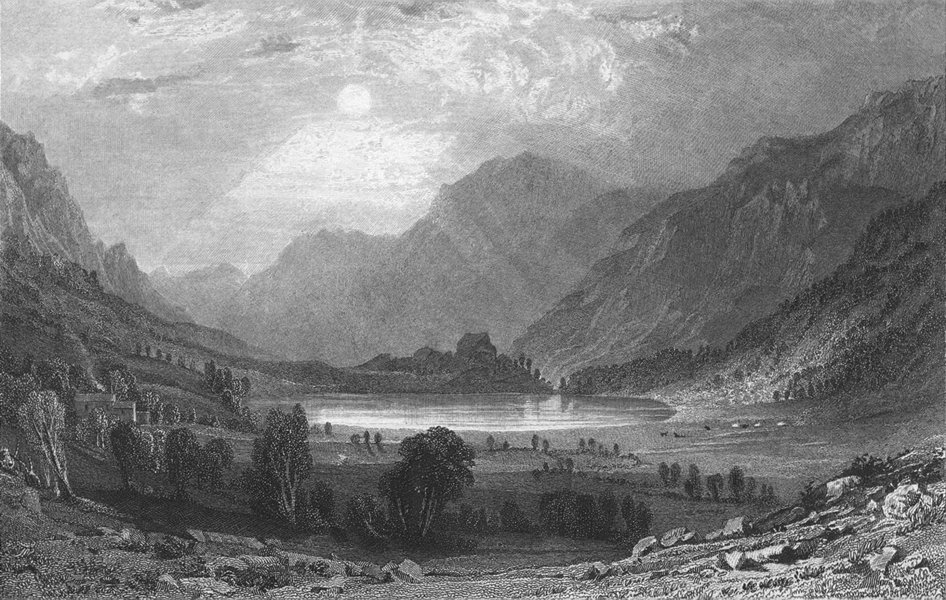 Associate Product WESTMORLAND. Blea Tarn. Allom. view Mountains 1832 old antique print picture