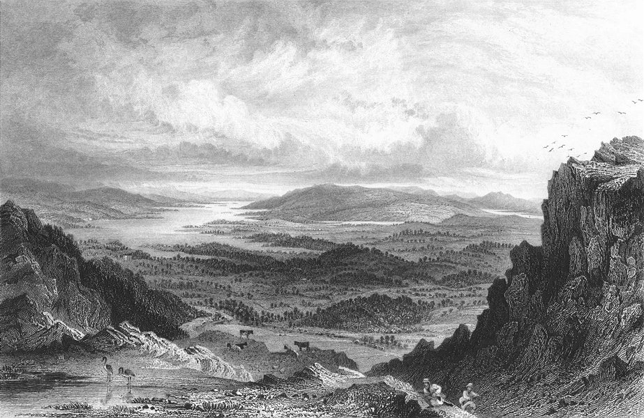 Associate Product WINDERMERE. Esthwaite Coniston Lakes, Loughrigg Fell 1832 old antique print