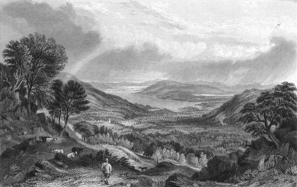 Associate Product WINDERMERE. Esthwaite Water Ambleside, Rydal Park.  1832 old antique print