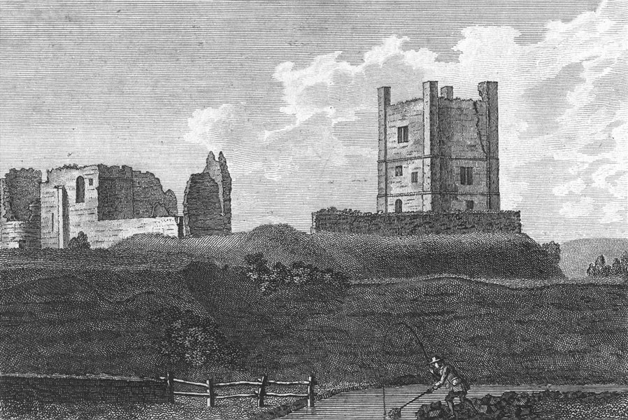 Associate Product WESTMORLAND. Brough Castle. Grose. scan 1783 old antique vintage print picture