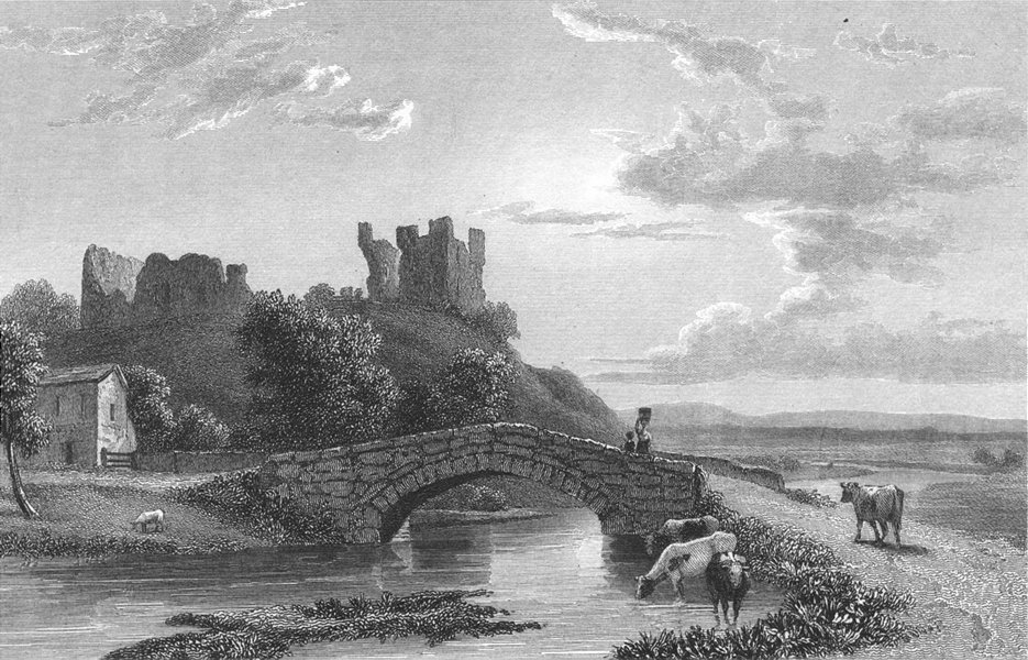 Associate Product WESTMORLAND. Brough Castle. Westall. Kendal 1830 old antique print picture