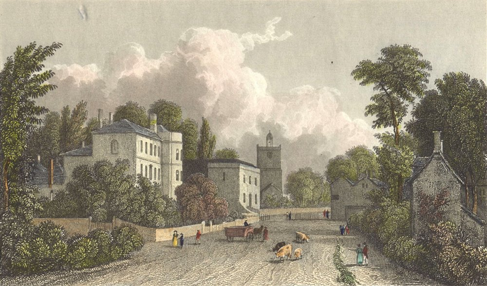 WILTS. Melksham. Westall c1833 old antique vintage print picture