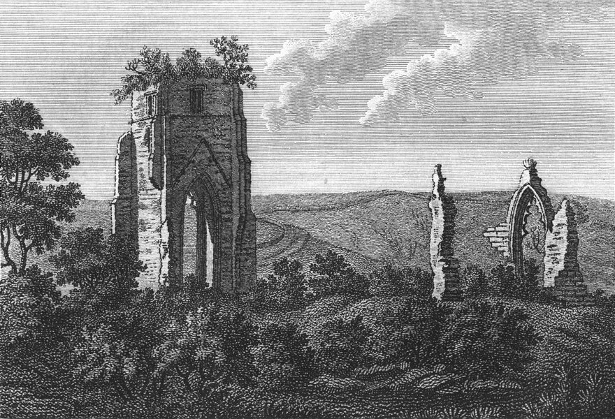 WESTMORLAND. Shap Monastery. Grose 1795 old antique vintage print picture