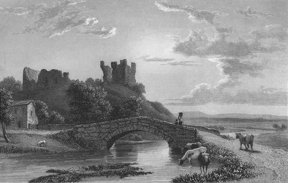 Associate Product WESTMORLAND. Brough Castle. Westall-Finden 1832 old antique print picture