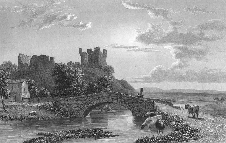 Associate Product WESTMORLAND. Brough Castle. Westall. Kendal -Finden 1830 old antique print