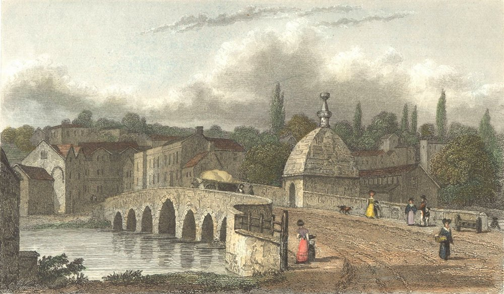 Associate Product WILTS. Bradford. Westall 1830 old antique vintage print picture