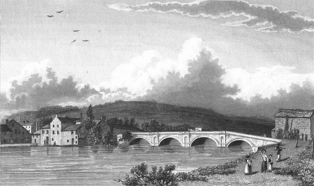 Associate Product KENDAL. Strammongate bridge. Westmorland Westall 1830 old antique print