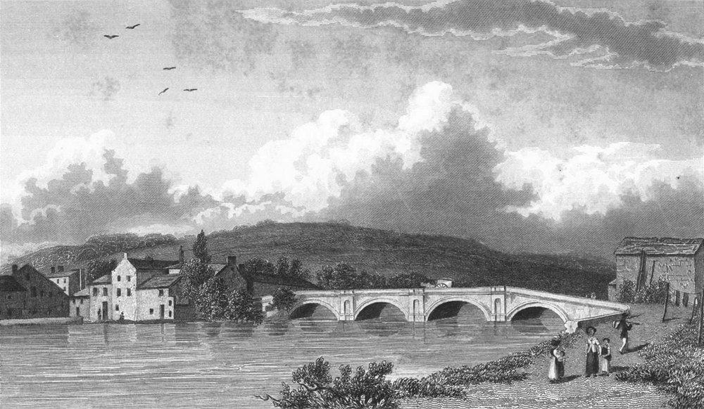 Associate Product KENDAL. Strammongate bridge. Westmorland Westall 1834 old antique print